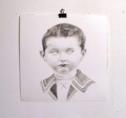 Pierre, graphite sur papier, 40 x 40 cm, 2013.