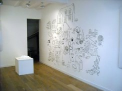 the beginning, dessin vectoriel, fusain, 400 x 200 cm, 2009.Mam Galerie Rouen.