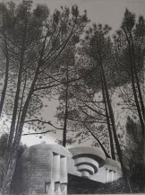 Blokhaus type M 176 Royan, Mine graphite sur papier aquarelle, 60 x 70 cm, 2017.