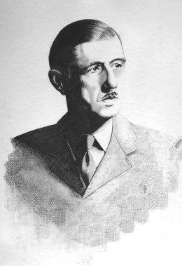 Amitiés Franco-Belge, Charles, mine graphite sur papier aquarelle, 45 x 64 cm, 2013.