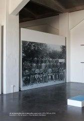 Je ne trouve plus rien à vous dire, papier peint, 400 x 300 cm, 2016. Exposition « Par les lueurs », Frac Aquitaine, Bordeaux.