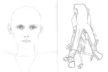 Charles-Thomas, mine graphite sur papier, dessin vectoriel, 50 x 40 cm, 1996.
