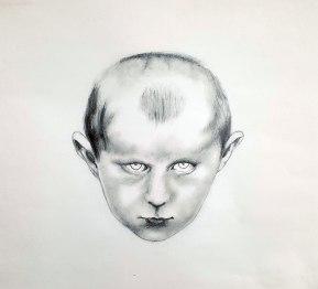 Petit Breton 01, graphite sur papier, 40 x 40 cm, 2016.