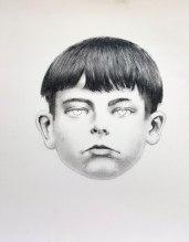 Petit Breton 02, graphite sur papier, 40 x 40 cm, 2016.