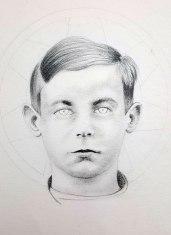 Papa, graphite sur papier, 40 x 40 cm, 2013.