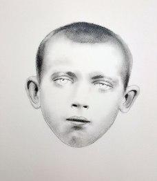 Petit Breton 04, graphite sur papier, 40 x 40 cm, 2016.