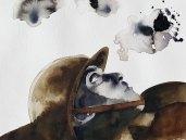14 mai - Sans doute la lutte fait rage - 31 x 41 cm - Aquarelle sur papier 300gr.