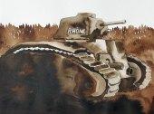 16 mai - La situation est engluée / B1 - 31 x 41 cm - Aquarelle sur papier 300gr.