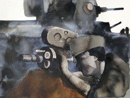 16 mai - La percée - 31 x 41 cm - Aquarelle sur papier 300gr.