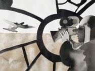 19 mai - L'attraction du vrai, du bon et du beau. - 31 x 41 cm - Aquarelle sur papier 300gr.