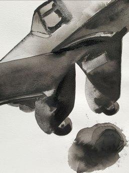 23 mai - Le tout est question d'heures - 31 x 41 cm - Aquarelle sur papier 300gr.