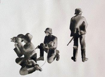 24 mai - Du Hast / PropagandakompagnieHeer - 31 x 41 cm - Aquarelle sur papier 300gr.