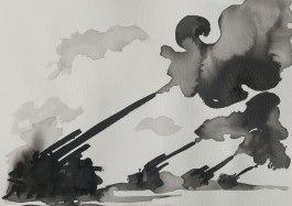5 juin - Les journées de poursuite - 31 x 41 cm - Aquarelle sur papier 300gr.
