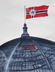 14 juin - Paris ville ouverte - 41 x 31 cm - Aquarelle sur papier 300gr.