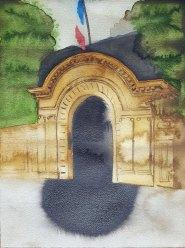 16 juin - Doit-on rompre l'accord Franco-Anglais - 41 x 31 cm - Aquarelle sur papier 300gr.