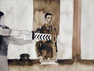 18 juin - Moi, général de Gaulle/BBC - 31 x 41 cm - Aquarelle sur papier 300gr.