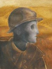 24 juin - Epilogue 02 - On croit la guerre finie - 41 x 31 cm - Aquarelle sur papier 300gr.